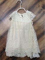 Girls Full Lace Dress Pattern Chiffon Baby Embroidery Dresses 5pcs/lot Free Shipping