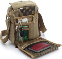 2014 New Fashion Men's Travel Bag Quality Canvas Men Messenger Bag Multi Function Brand Mini Size Style Bags for Man Color XB108