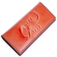 9 colors Scorpion wallet genuine leather 2014 new brand women wallet casual vintage purse  GF071509