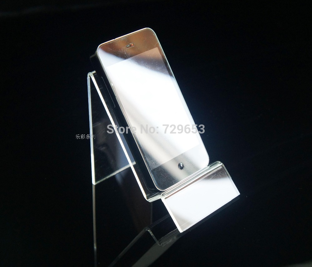 Wholesale100pieces Mobile Phone Display Stand Acrylic Cellphone Display Holder Rack Free Shippingg By DHL(China (Mainland))
