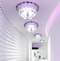 modern led crystal brief ceiling light living room home lighting 3W led hallway lights fixture AC85-265V