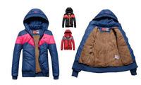 Brand Casual Fur Winter Jacket Women winter coat Plus Size Splice color Warm Thicken Down-cotton Slim Parka Free Shipping W118