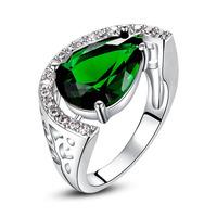 S-0002RW,African jewelry ring Bijoux  silver plated jewelry with Zircon wedding jewelry Nickel free