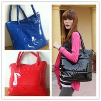 High Quality Free shipping Hot selling Winter Cotton women Handbag 4 colors fashion women bag Leather shoulder handbag CX840201