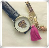 owl Surface Fashion Woman Dress Watch Quartz Leather Strap Watch High Quality Wristwatches Women TD0303