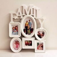 Free Shiping!  NEW Family Theme Combination Photo Wall Creative Modern Photo Frame with 6 Frames Home Decor Hot Selling!