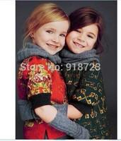 2014 New Autumn And Winter Girl's DressPrincess Dress 3-12T Half Sleeve Fashion Brand Children Clothing Outerwear Top