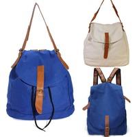 Women's Vintage Canvas Satchel Rucksack Backpack Travel Bag Bookbag