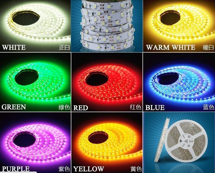 5M/lot 60LEDS/M 300 leds Christmas Home Decoration RGB/WHITE/RED/GREEN/BLUE SMD Led STRING Strip Light 3528 Non Waterproof Tape(China (Mainland))