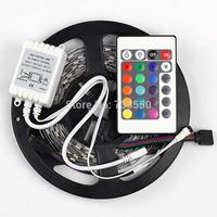 BEST PRICE!!  3528 rgb led strip 300 LED 5M RGB +24 key IR Remote,non-waterproof led strip