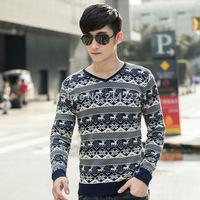 2014 Men's new winter sweater  fashion urban stretch Slim Korean pullovers men