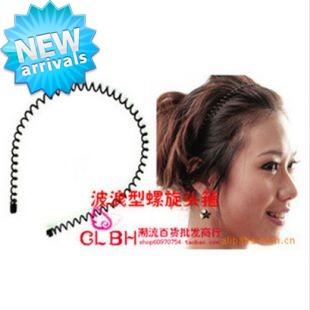 wild unisex wavy hair hoop headband iron spiral spring headband headbands Hair Clip Hair Pin JC1306(China (Mainland))