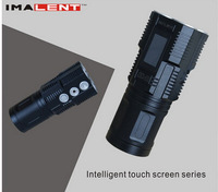 2015 NEW IMALENT DD4R Cree XM-L L2 LED  Flashlight 3800LM Torche with Intelligent touch screen series by 4pc battery,Freeshiping