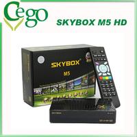 2pcs Original Skybox M5 Mini HD Satellite Receiver with Wifi Support Weather Forecast Network receptor satellite digital hd