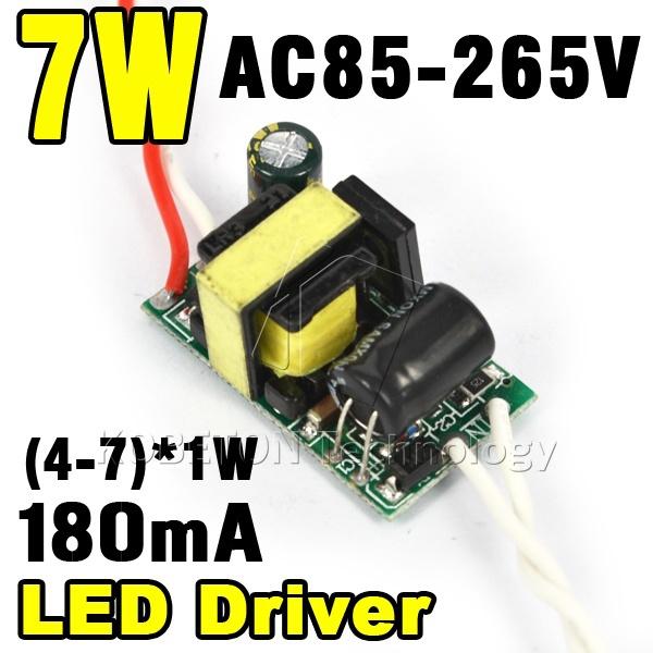 (4-7)x 1W 7x1W Led Driver 4W 5W 6W 7W Lamp Driver Power Supply Lighting Transformer AC85-265V for LED Strip Floodlight(China (Mainland))