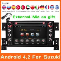 2 Din Android 4.2 Car DVD Automotivo For Suzuki Grand Vitara 2005-2011+3G GPS Navigation DVD Automotivo Audio Radio Car Styling