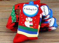 Free Shipping 2014 new Fashion Women Chrismas socks warm soft snow sock deer socks Christmas women