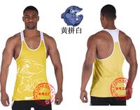 Brand Shark Bodybuilding Fitness Men Cotton T Shirt Vest Men' Sleeveless Gym Tank Tops Sports Plus Size M-XXL