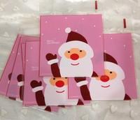 100 PCS 10x13cm 10x10+3cm Rose Merry Christmas Self Adhesive Bag Cookie Food Bag Packaging Plastic OPP Bag Jewelry Gift Poly Bag