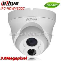 DAHUA 3Megapixel 3MP FULL HD ONVIF POE Outdoor Vandalproof Built-in Microphone Network IR Dome Camera IP Camera IPC-HDW4300C