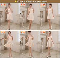 6 different style,2014 autumn new desigual brand quality Bridesmaids Mission dresses,Fashion popular elegant brideamaid dress