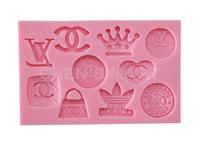 Cake Tool 1 pc 90G Logo Collection Badge Famous Fasion Silicone Mould Cake Decorating Fondant Sugarcraft Mold