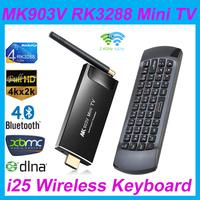 [Rii i25 fly air mouse]MK903V RK3288 Quad Core Cortex A17 Android 4.4 Smart  TV Box Ultra HD 4K HDMI H.264, H.265 Stick Mini PC