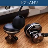 KZ-ANV mobile phone earphones without microphone wire heatshrinked in ear headset earphones high quality