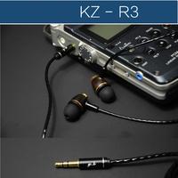 KZ - R3 linear HIFI fever earplugs in-ear headphones ebony professional sound quality heavy bass Earphones Q feeling is strong