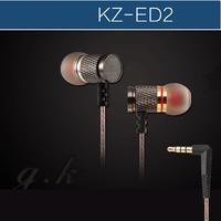 "KZ - ED2 professional in-ear headphones ""Metal heavy bass sound quality Music Earphone ,China's high-end brand headphones"