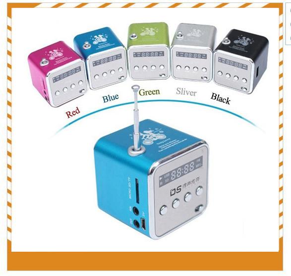 2014 Hot 6color Digital Portable Mini Speaker no bluetooth speaker Micro SD/TF Card MP3/4 FM Radio Digital mini portable Speaker(China (Mainland))