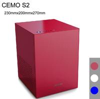 230*200*270, Mini-ITX Chassis, HTPC case, USB3.0, 3.5'' HDD, ATX PSU, all-aluminum 1.5mm, ITX case HTPC, CEMO S2