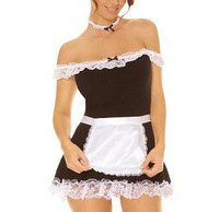 women sexy french maid costume off shoulder sexy miniskirt lolita maid outfit sexy women dress exotic apparel maid