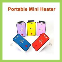 50Pcs Office Portable Mini Warm Electric  Fan Air Heaters Winter Warmers Essential Helper 220V 200W