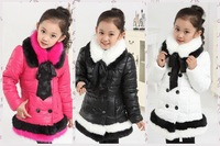 Free shipping  thick and warm children girls winter coat,cute brand high quality winter down jacket for girls children outwear