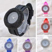 New 2014 Fashion Women Rhinestone Watches Geneva Watch crystal Shiny Lady wristwatch Dropship Z*MPJ406