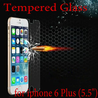 """2014 New For iPhone 6 Plus 5.5"""" Premium Tempered Glass Screen Protector HD Toughened Protective Film Ultra Thin 0.3mm Free ship"""