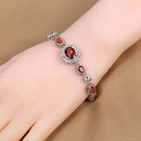 B-0001,Bracelet Bijoux 925 Sterling silver plated jewelry with zircom crystal new-balance brand in aliexpress