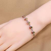 B-0007,Leather Bracelet jewelry make rubber band bracelet pulseiras femininas 925 silver plated fashion bracelet