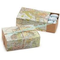 180pcs Around the World Map Favor Box TH031-A0 muslim world free shipping