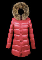 High Quality Brand Winter Jacket Women Down Jacket Warm Winter Coat Fur Collar Long Lady Down Jacket Red Ladies Down Parkas