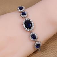 B-0009,Bracelet Bijoux 925 Sterling silver plated jewelry with zircom crystal new-balance brand in aliexpress