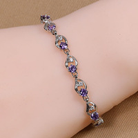 B-0012,Bracelets for women from india silver plated pulseira bracelets bangles fashion jewelry loom bands one direction
