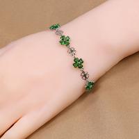 B-0016,Leather Bracelet jewelry make rubber band bracelet pulseiras femininas 925 silver plated fashion bracelet