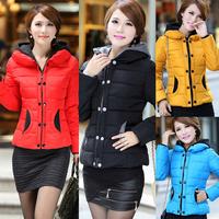 Elegant  Winter jacket coat women hooded overcoat jackets down & parkas for women clothing