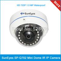 SunEyes SP-Q702 ONVIF HD 720P 1.0MP Mini Dome IR IP Camera Outdoor / Indoor Waterproof IP66 Metal Case