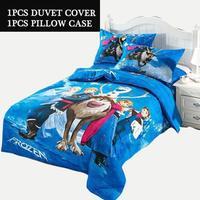 2pcs frozen bedding&duvet cover pillow case/3d kids cartoon bedding set for kids child bed clothes/#B15-4