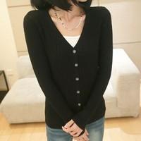 2014 Winter Necessary KOREAN Style Women Warm Knitwear Casual Twist Cardigans V-Neck Slim Render Sweaters YLS14924