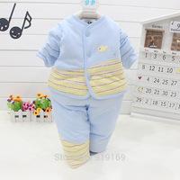 2014 new autumn and winter baby cardigan coat suit coat baby cotton baby suit buckle piece baby suit