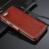 """Luxury Crazy Horse Flip Leather Case For Apple iPhone 6 4.7"""" with Stand and Card Holder Protective Cover for iPhone6 6G 1pcs/lot"""